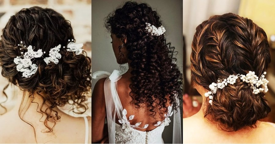 bridal hairstyle ideas for curly hair