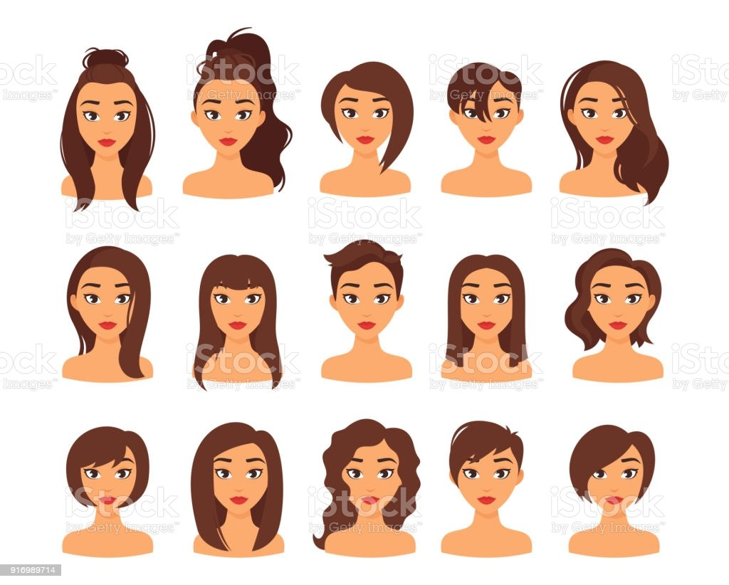 woman different hairstyles gm