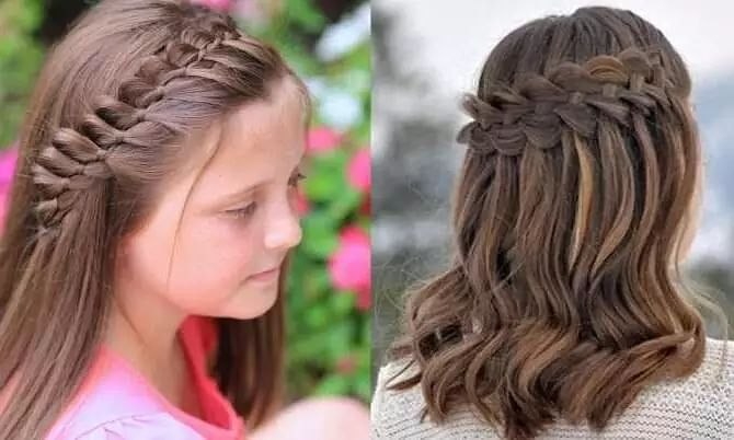 simple and easy hairstyle for girls