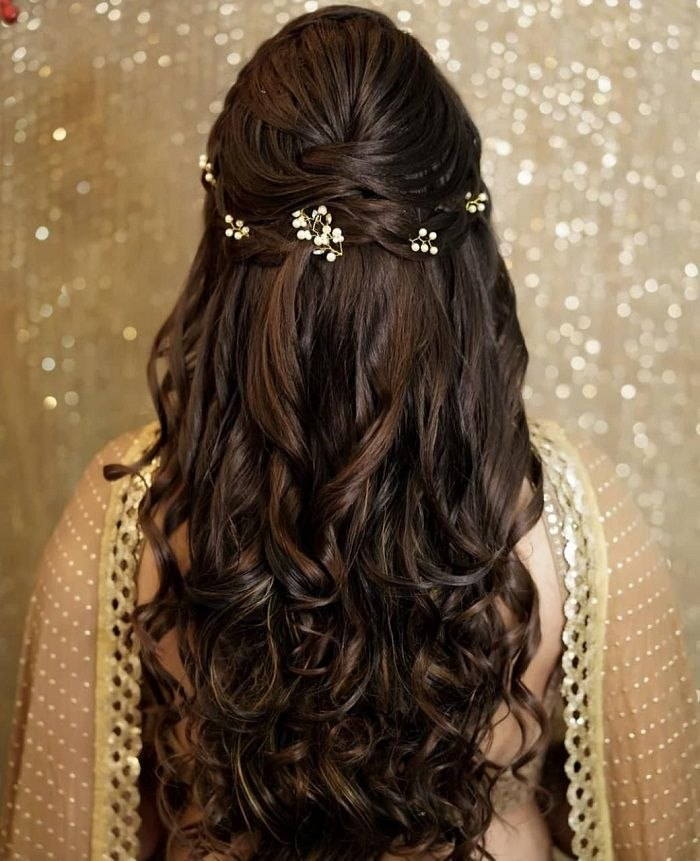 Engagement Hairstyle For Long Hair Inspirational Shaadidukaan India Hair Styles, Engagement Hairstyles, Open … Of New Engagement Hairstyle for Long Hair