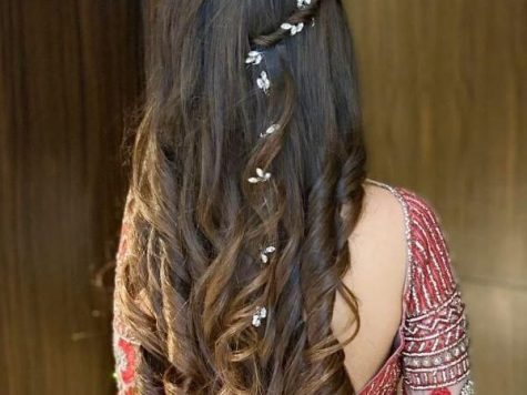 Engagement Hairstyle for Long Hair New Indian Bridal Hairstyles for Sangeet In 2020 Medium Hair Styles ...