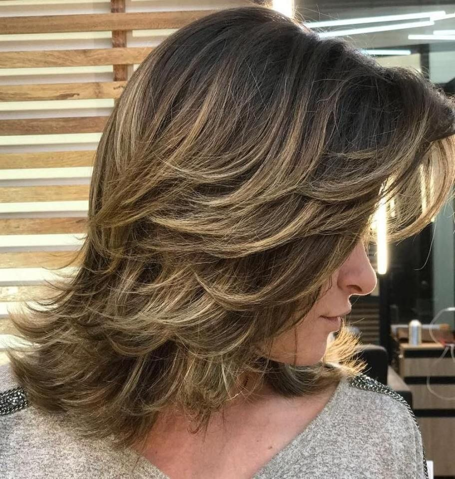 Feathered Layered Medium Hairstyle Inspirational Pin On Hair