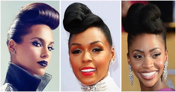 pompadour hairstyle for black women