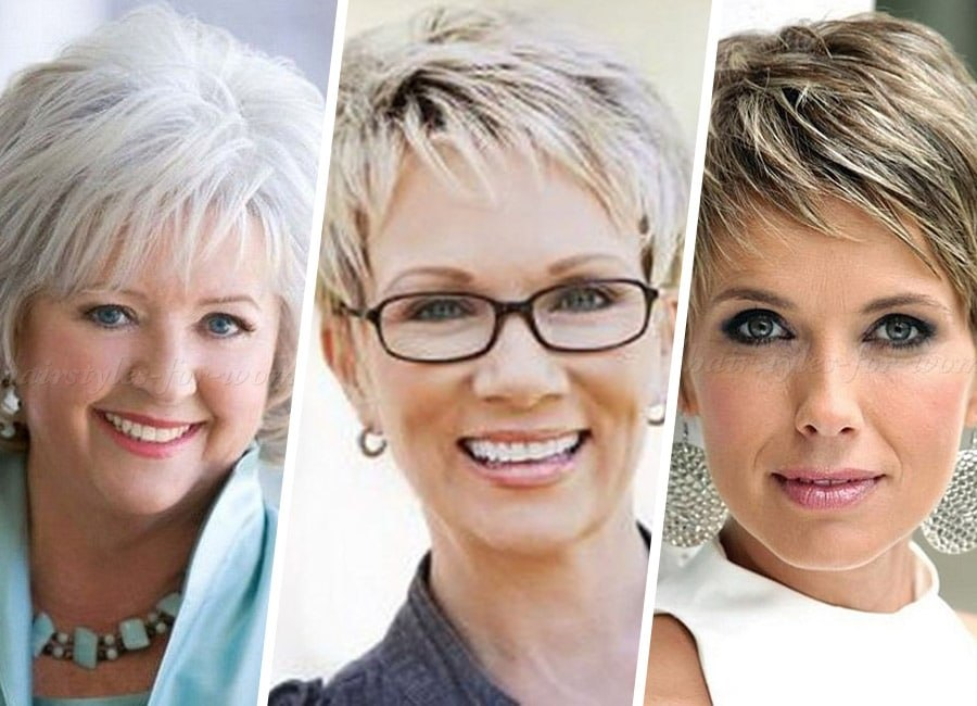 top 10 best short hairstyle tread for older woman with fine thin hair 2021