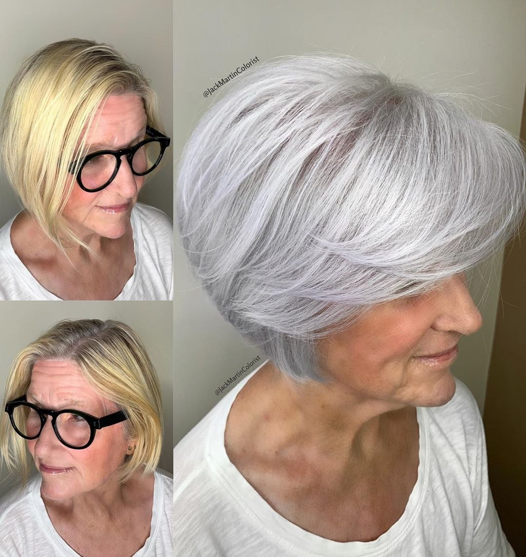 bob for older women with thin hair