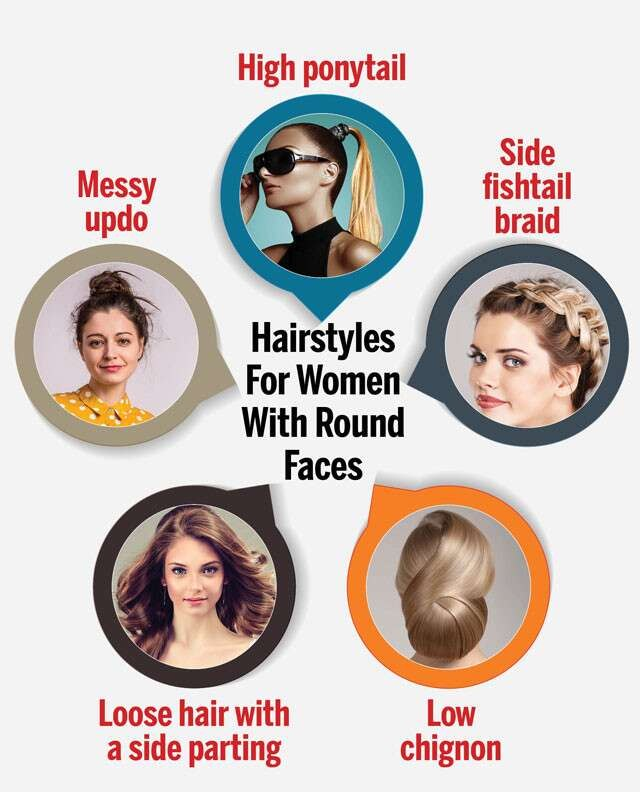 haircuts hairstyles for a round face ml