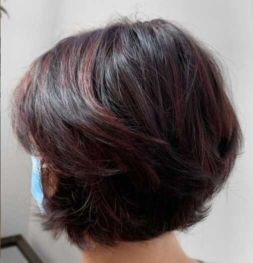 layered haircut for short hairstyles