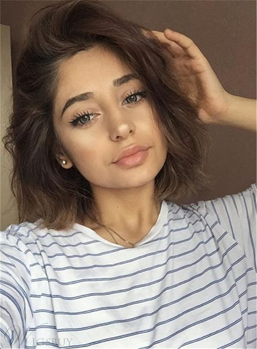 Length Of Short Hair The Best Glossy Shoulder Length Nature Straight Human Hair Lace Front Wig … Of Inspirational Length Of Short Hair