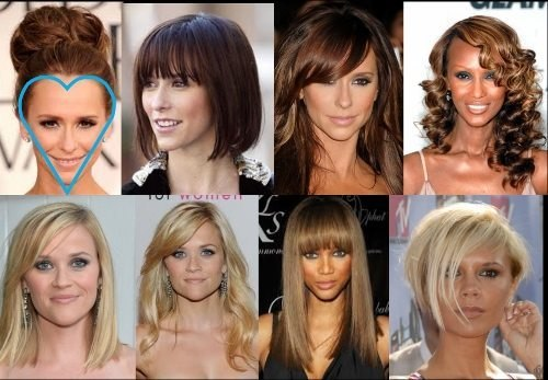 best hairstyles for your face shape heart shapeml