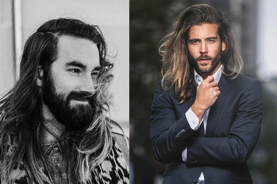 how to style long hair men