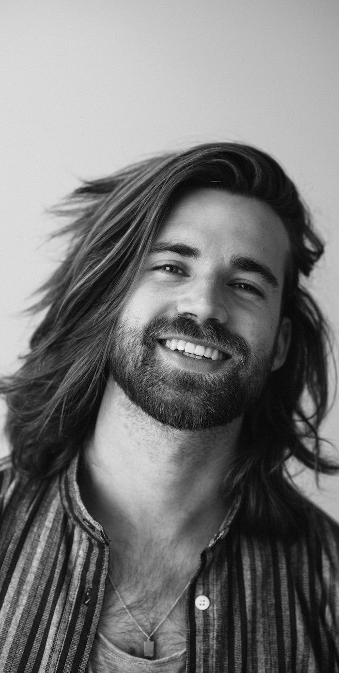 long hairstyles for men with class