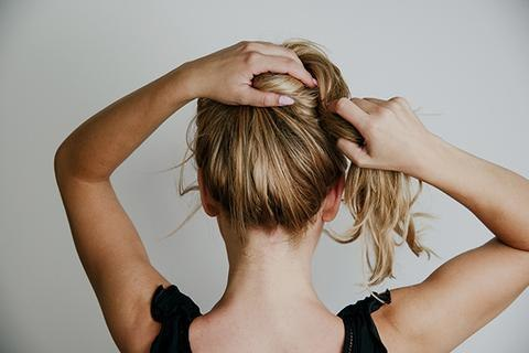 stop touching your face by keeping your hair pulled back