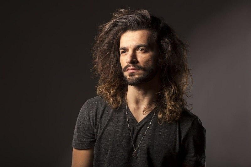 men long hairstyles with thick hair