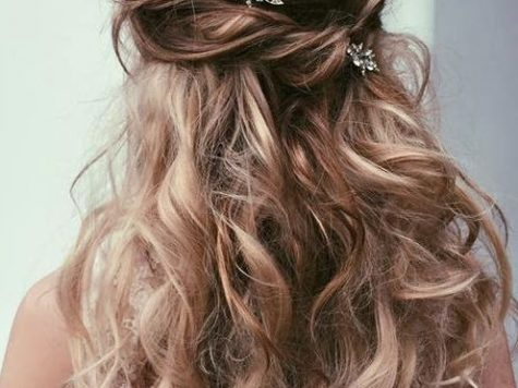 Long Hairstyles for Prom Lovely Ulyana aster Messy Half Up Half Down Wedding Hairstyle #wedding ...