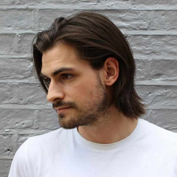 grown out length long hairstyle