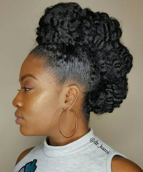 top 5 easy showy protective hairstyles for natural hair
