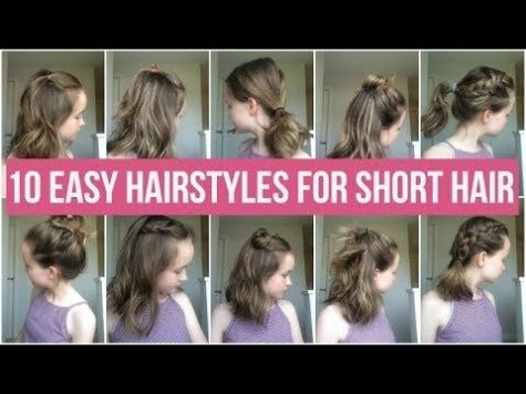 School Girl Hairstyle for Short Hair Inspirational 10 Easy Hairstyles for Short Hair! Quick and Simple Hairstyles for ...