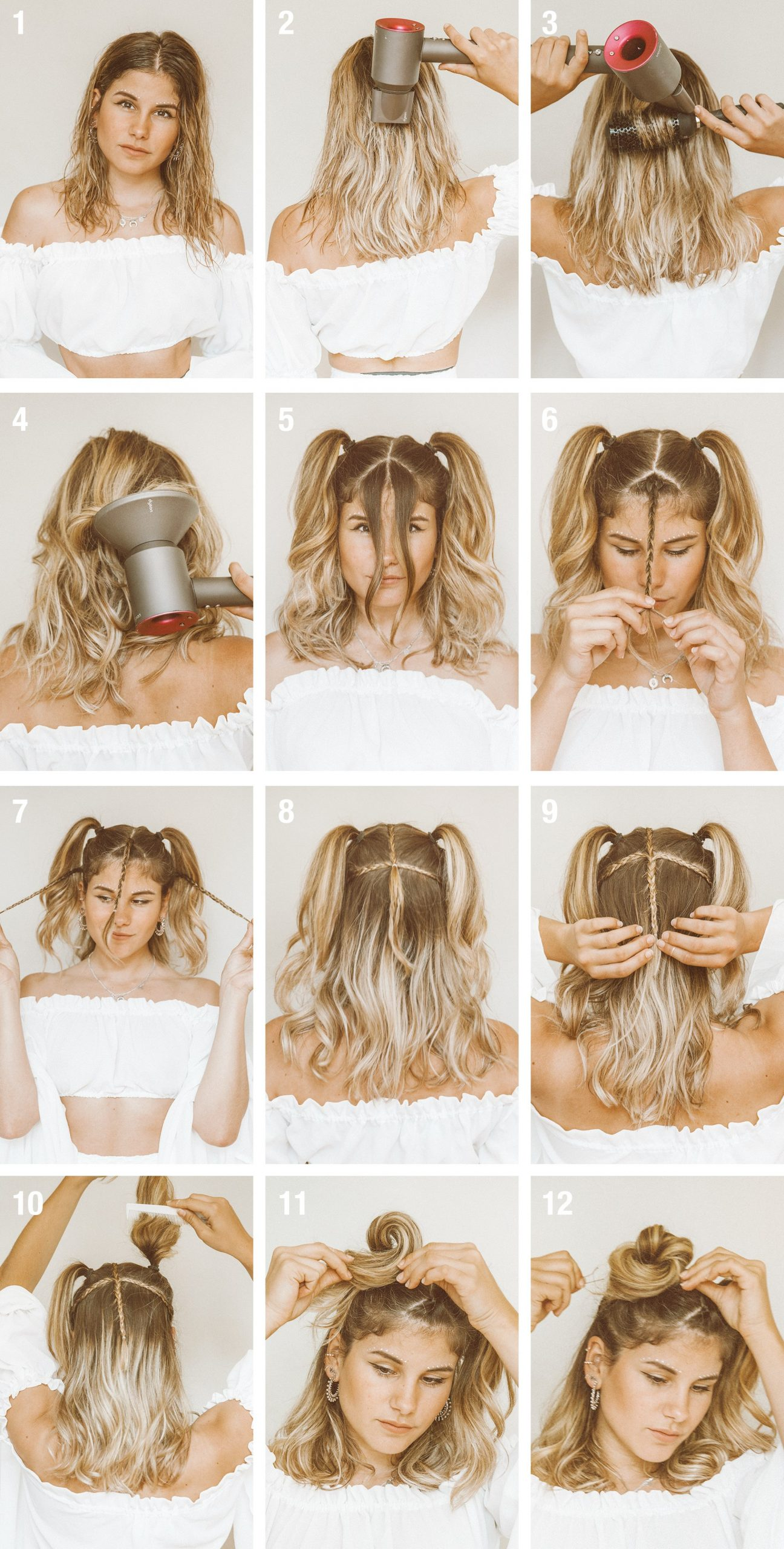 tutorial quick easy festival hairstyle for short hair