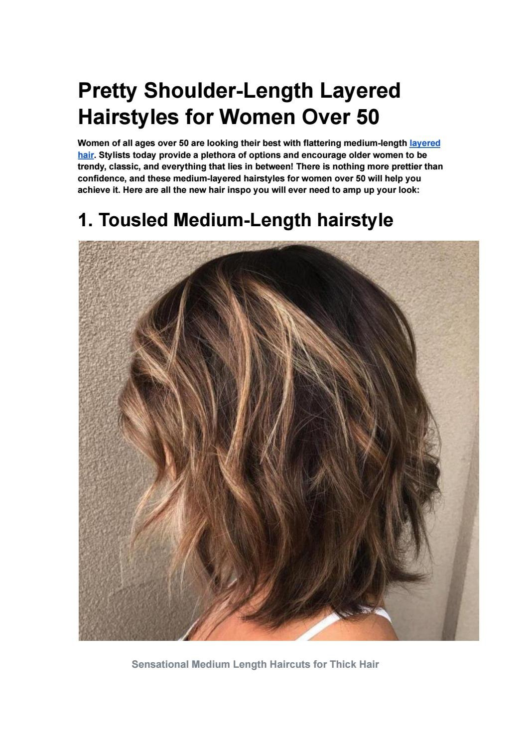 pretty shoulder length layered hairstyles for wome