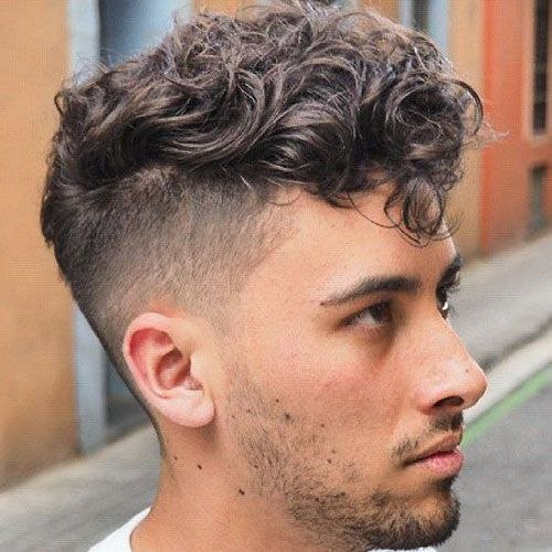 Undercut Hairstyle for Curly Hair New Curly Hair Undercut with Short Fringe and Stubble Curly Hair ...