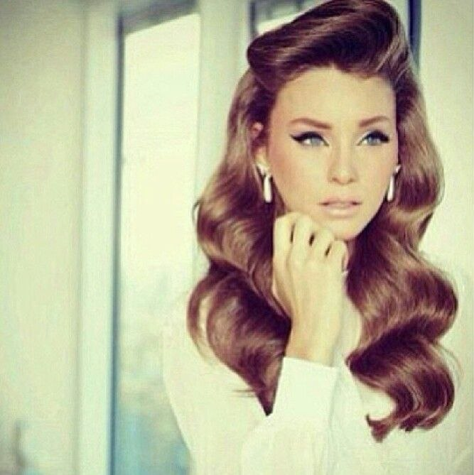 Vintage Long Hairstyle Beautiful Pin On Retro Hairstyle