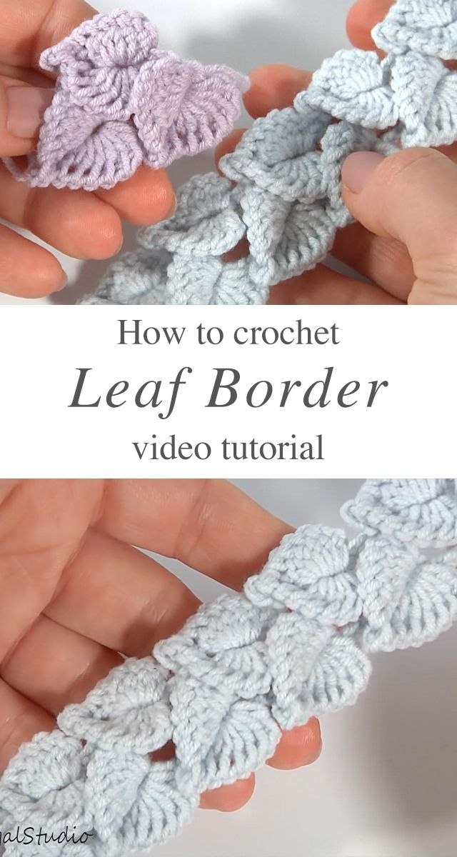 Crochet Leaf Border To Use In Many Works