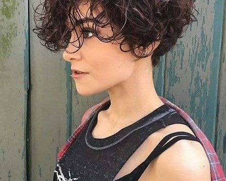 Womens Short Curly Hairstyle New Curly Haircuts 4 Curly Hair Styles, Short Curly Hair, Short Hair ...