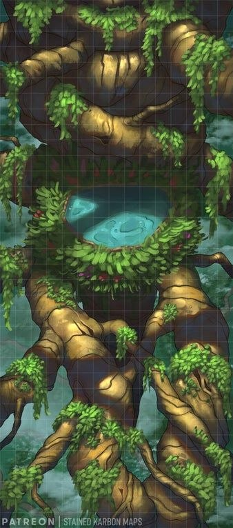 Giant Tree Tops Pool [34x15] [Forest]