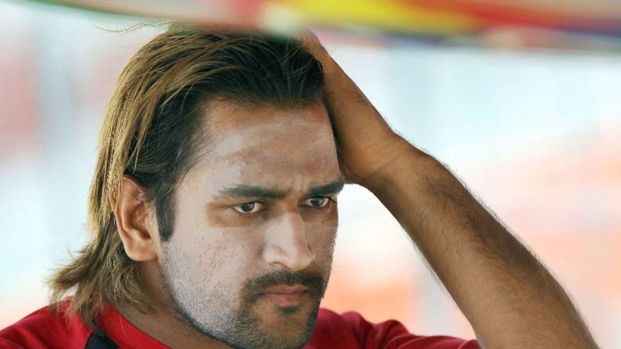 report watch ms dhoni back to sporting long hair this video will surely send mahi fans into a tizzy