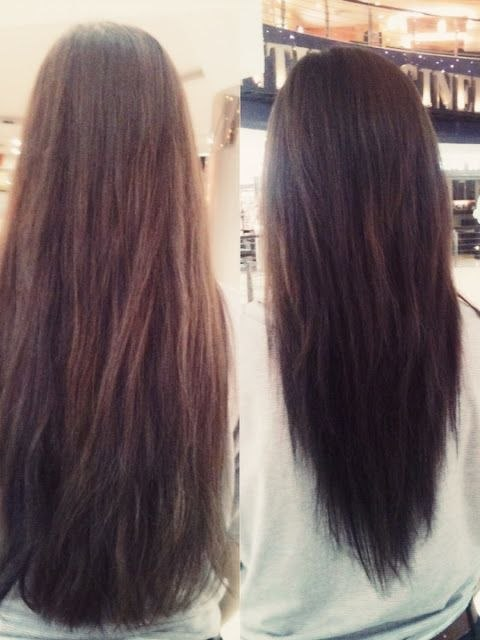 Layered Long Hair V Cut New V-layered Haircut - before and after Coupe De Cheveux, Cheveux ...