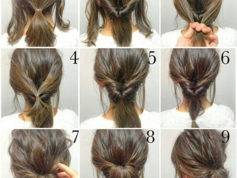 Long Hairstyle Updo Tutorials Lovely Step by Step Messy Bun Updo Tutorial Short to Medium Length Hair ...