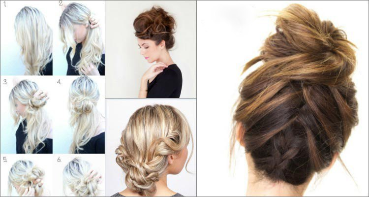 messy updo tutorials hairstyle 2016