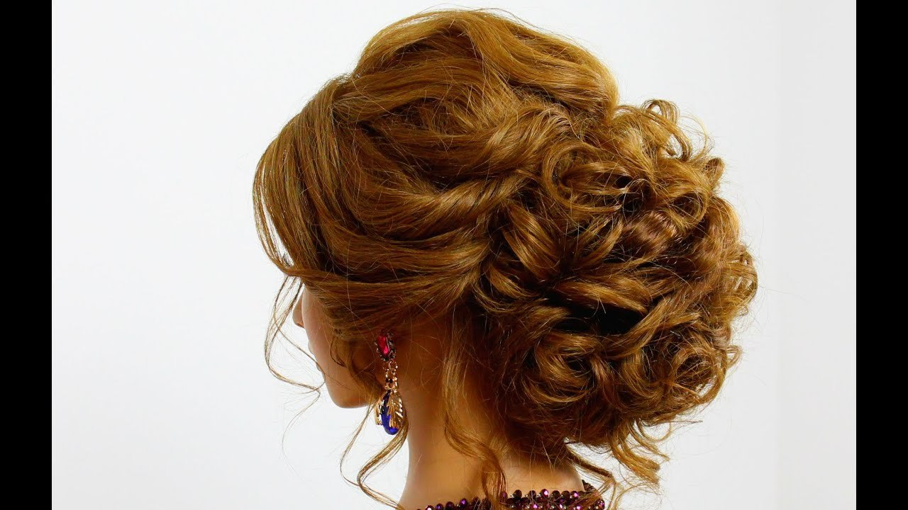 Updo Hairstyle for Long Hair Elegant Hairstyle for Long Hair. Prom Updo